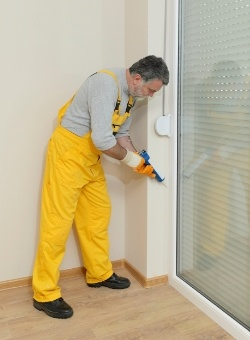 To keep stink bugs out, use polyurethane insulating foam sealant.
