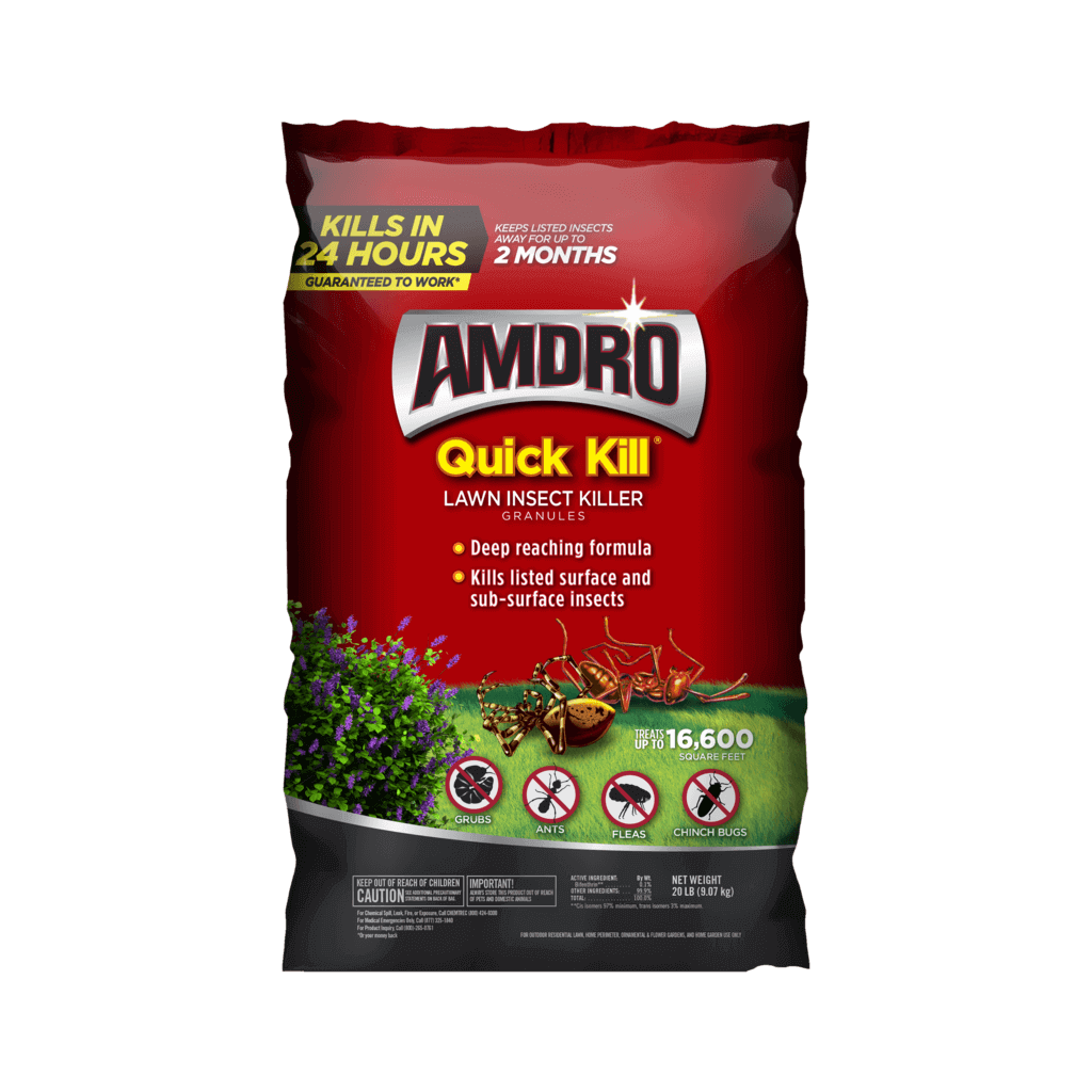 AMDRO Quick Kill Lawn Insect Killer Granules 20LB Bag