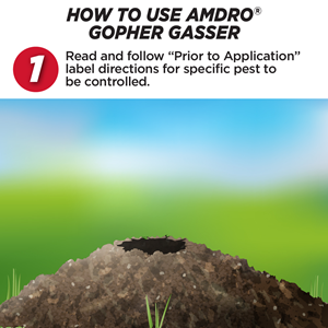 How to use Amdro Gopher Gasser
