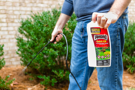 Amdro Quick KIll Insect Killer Concentrate in use