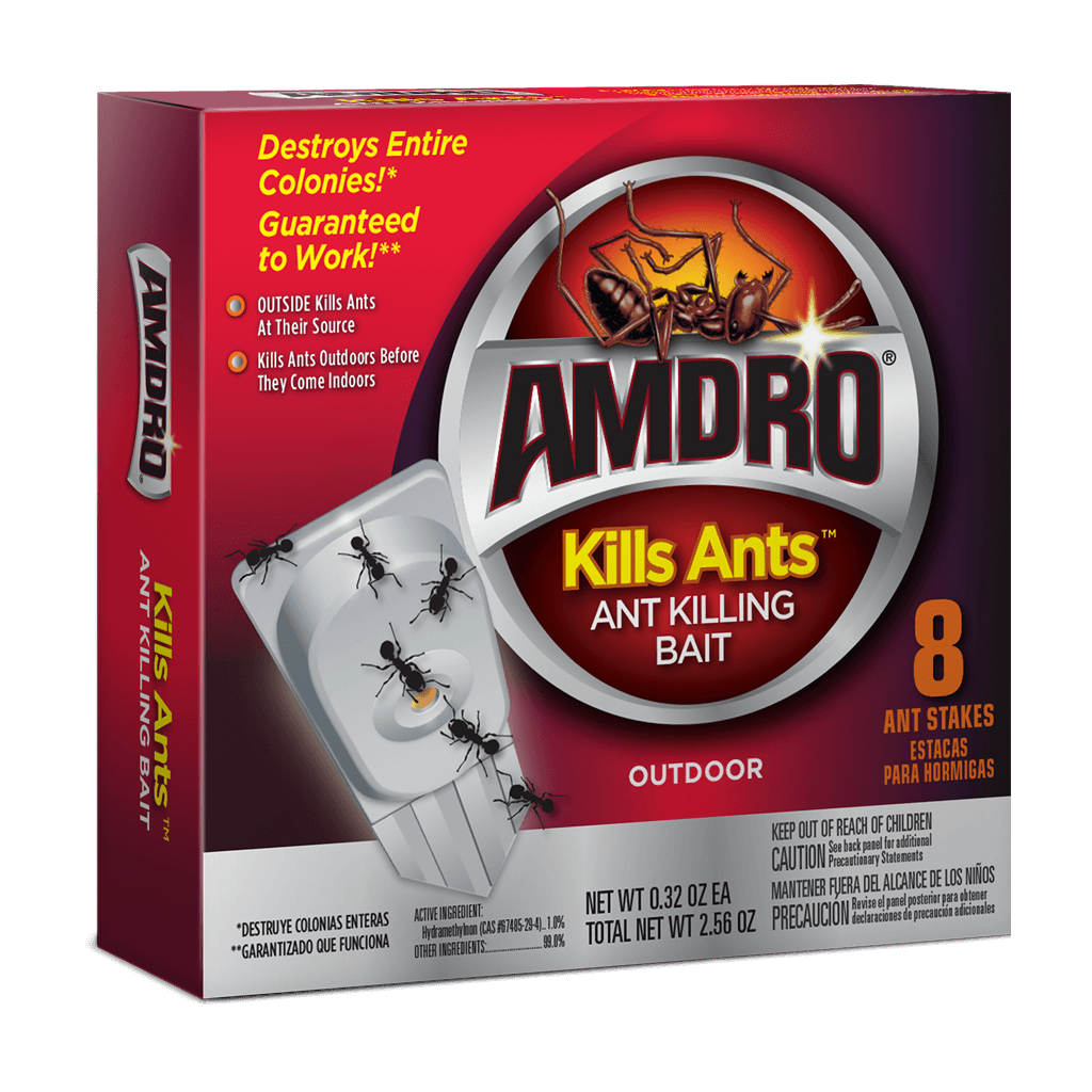 AMDRO Kills Ants Bait Stakes 8PK (Sideview)